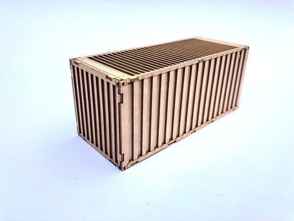 LX177-OO M.O.D. 20ft Side Opening Shipping Container Kit (Pack of 2) OO/4mm/1:76